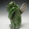 Nick's Memorial Gargoyle, green aventurine and ashes, encased in clear, weathered surface, 6 x 3 x 4 inches.